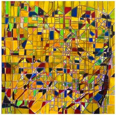 Reticulum - Oil on Canvas by Giorgio Lo Fermo - 1995