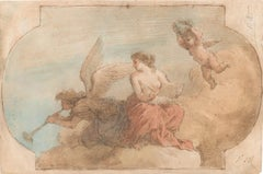 Allegorical Scene - Pen, Brown Ink and watercolor attributed. to J. Amigoni