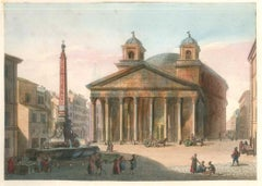 The Pantheon - Original Lithographs and Watercolors - Mid 19th Century