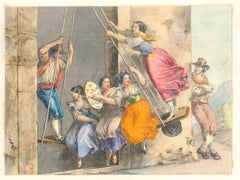 Genre Scenes / Rome 1800 - Lithographs and Watercolors - Mid 19th Century