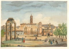 The Capitol - Original Lithographs and Watercolors - Mid 19th Century