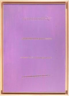 Seams on Liliac - Original Acrylic Painting by Mario Bigetti - 2010s