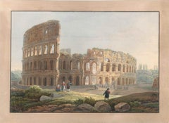 Colosseum - Watercolor by an Italian School Artist of 19th Century