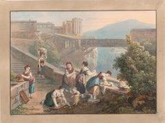 Genre Scene - Watercolor by an Italian School Artist of 19th Century