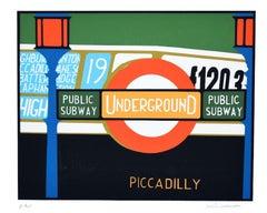 Piccadilly - Original Screen Print by Mario Padovan - 1970s