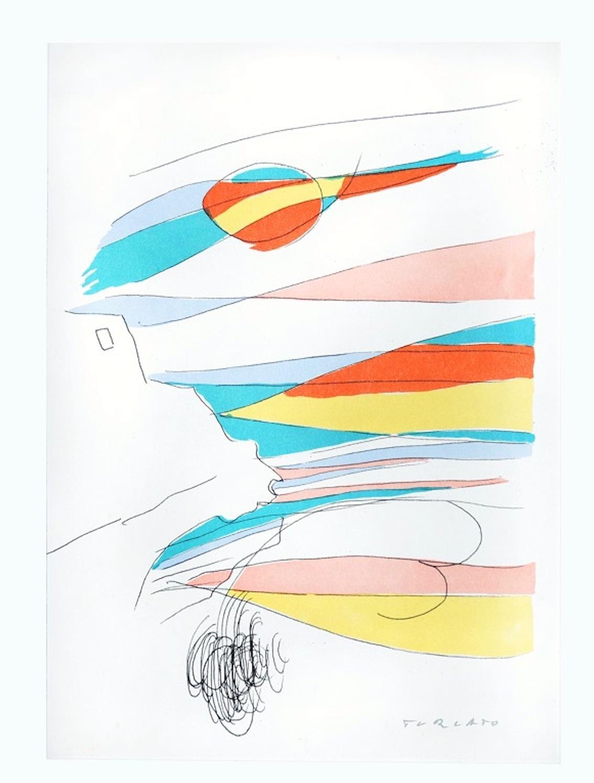 Untitled - Original Lithograph by Giulio Turcato - 1970s