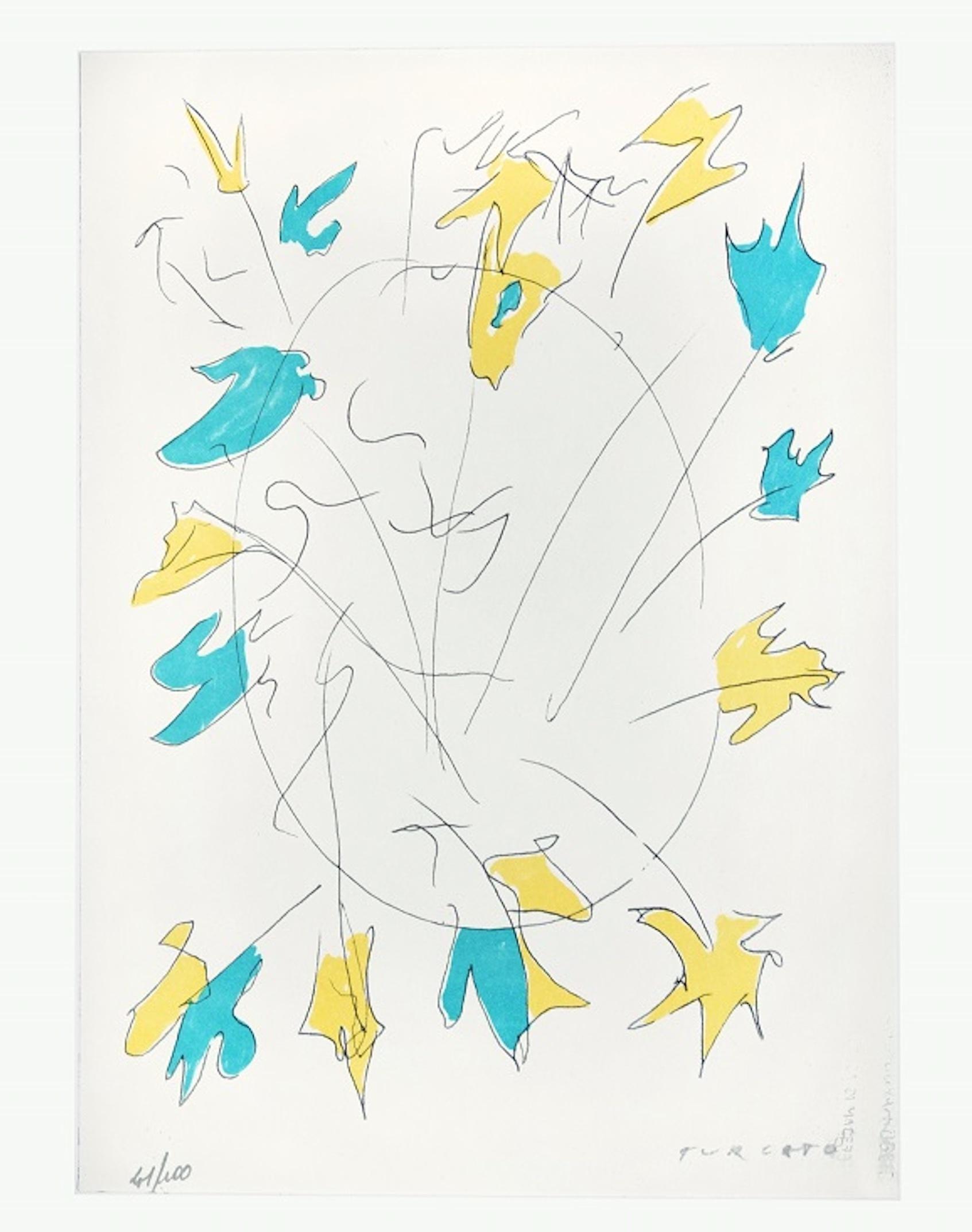 Untitled - Original Screen Print by Giulio Turcato - 1970s
