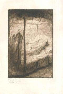 Mein Weg mit dem Weib - Original Etching by W.R. Rehn