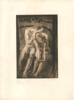 Mein Weg mit dem Weib #17 - Original Etching by W.R. Rehn
