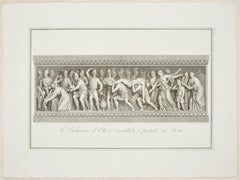 The Body of Hector Brought Back to Troy - Etching by F. Cecchini