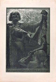Kriegsnotspende für Leipzig - Original Etching by Bruno Héroux - 1916