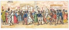 Il Corso - Original Etching by C. G. Hyalmar Morner - 1820