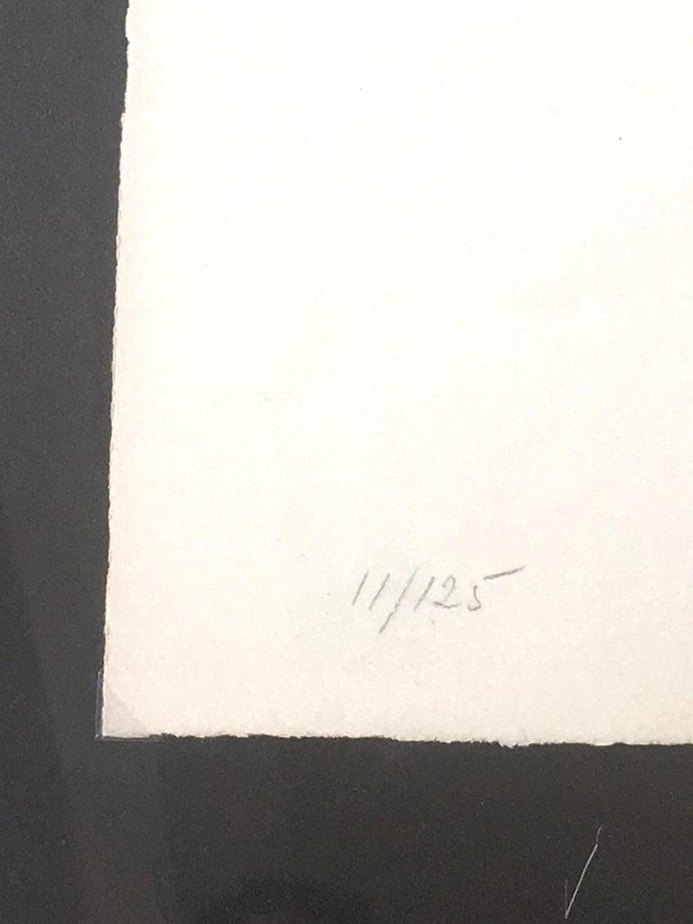 Affiche no.87 - 1964 - Eduardo Chillida - Lithograph - Contemporary - Beige Abstract Print by Eduardo Chillida Juantegui