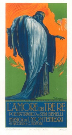 L'Amore dei Tre Re - Original Advertising Lithograph by L. Caldanzano - 1913