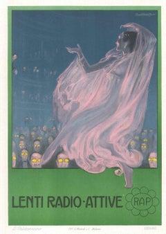 Lenti Radio Attive - Original Advertising Lithograph by L. Caldanzano - 1912