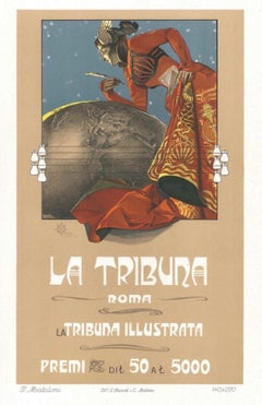 La Tribuna - Original Lithograph by G. Mataloni - 1897