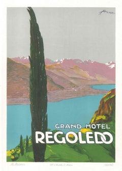 Grand Hotel Rogoledo - Original Advertising Lithograph by E. Sacchetti -1914 ca.