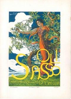 Oli Sasso - Original Advertising Lithograph by Plinio Nomellini - 1914 ca.
