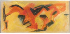 Fox Hunting - Abstract Expression -  Oil Painting 2011