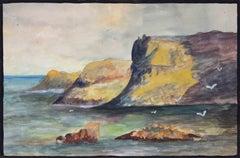 Marine - Original Tempera on Paper by Lucie Navier - 1927