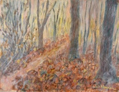 In the Woods  - Original Oil Painting by Lucie Navier - 1931