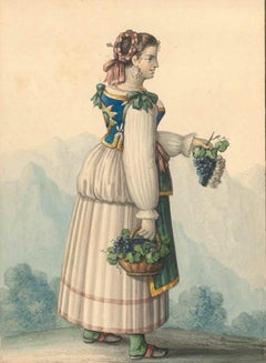 Costume di Capri - Watercolor by M. De Vito - 1820 ca.