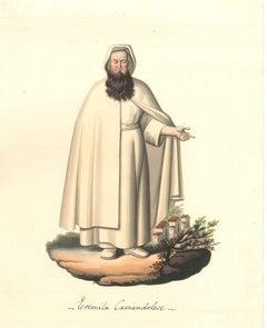 Eremita Camandolese - Watercolor by M. De Vito - 1820 ca.