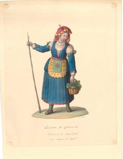 Costume di Latronica   - Watercolor by M. De Vito - 1820 ca.