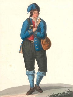 Costume di Zaccanopoli   - Watercolor by M. De Vito - 1820 ca.