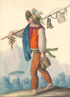 Costume napolitano, il ritorno di Montevertigine  - Watercolor by M. De Vito