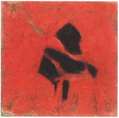 Homage to Alberto Burri - Oil Painting 1996 by Giorgio Lo Fermo