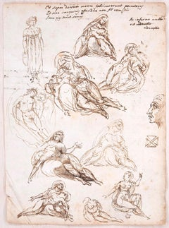 Studies and notes - Ink and Pencil on Paper y Anonymous Master - Early 1800