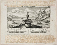 Imaginary View of Baia - Original Etching by Anonymous 18th Century