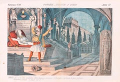 Romeo and Juliet - Original Lithograph by Augusto Grossi - 1870s