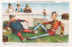 A Probable Kick Of Known Origin -  Lithograph by Augusto Grossi - 1860s