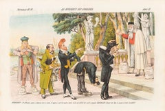 Bidders for Appearance  -  Lithograph by Augusto Grossi - 1870s