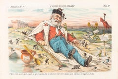 A New Italian Gulliver  -  Lithograph by Augusto Grossi - 1870s