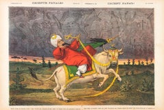 Orient Fatal!  -  Lithograph by Augusto Grossi - 1870s