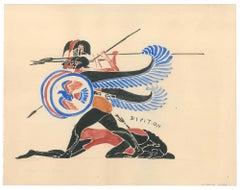 Greek Pitchers  - Original Tempera by A. Matheos