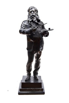 The Artist - Original Bronze Sculpture by Vincenzo Gemito - End of 19th Century