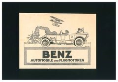 Benz Automobile Advertising - Original Vintage Advertising on Paper - 1910/20