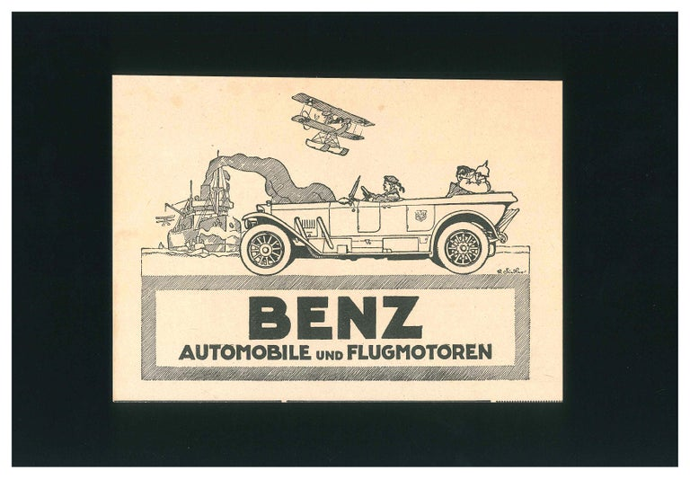 Benz Automobile Advertising - Original Vintage Advertising on Paper - 1910/20 - Art by Unknown
