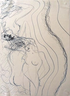 Feminine Nudes - Original Ink on Paper by Maurice Rouzée - 1940s