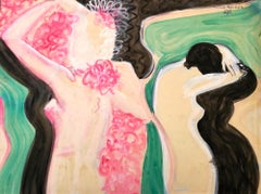 Embraces - Original Tempera on Paper by Maurice Rouzée - 1940s
