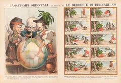Oriental Pastimes  -  Lithograph by Augusto Grossi - 1860s
