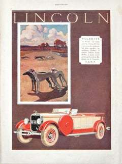 Lincoln Velocity - Original Vintage Advertising on Paper - 1927
