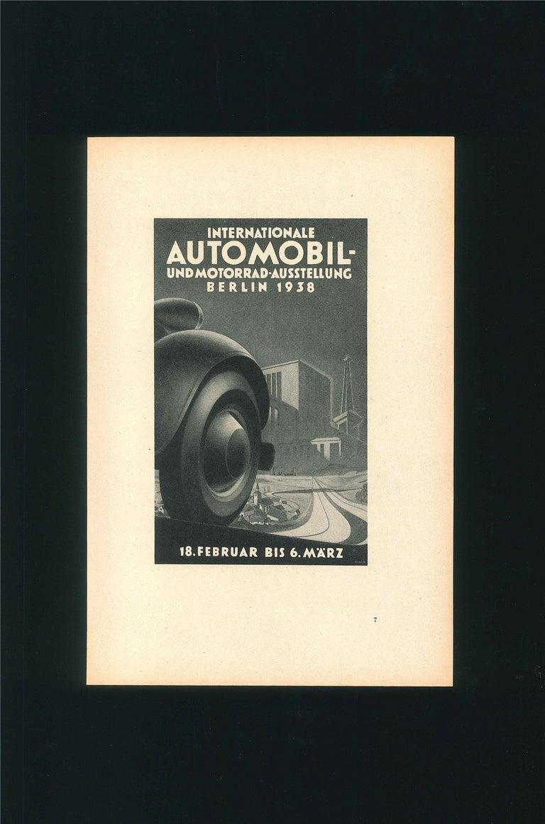 Internationale Automoil - Vintage Advertising on Paper - 1938 - Art Deco Art by Unknown