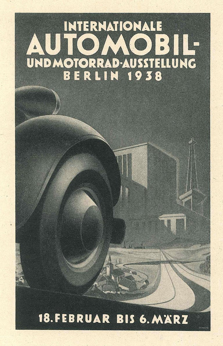 Internationale Automoil - Vintage Advertising on Paper - 1938 - Art by Unknown