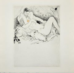 Sexual Encounter - Original Etching ad Drypoint by A. Doré - Late 1900