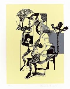 The Prison - Original Lithograph by Marcello Ercole - 1973